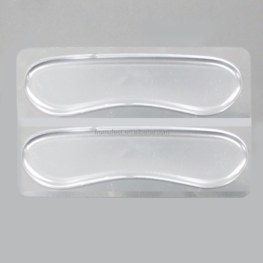 ZRWG02A Transparent Silicone Heel liner Cushion Gel Back Heel Grips Back for High-heeled Shoes