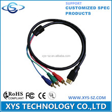 HDMI to 3 RCA Video Component Cable,support Customized Spec Products