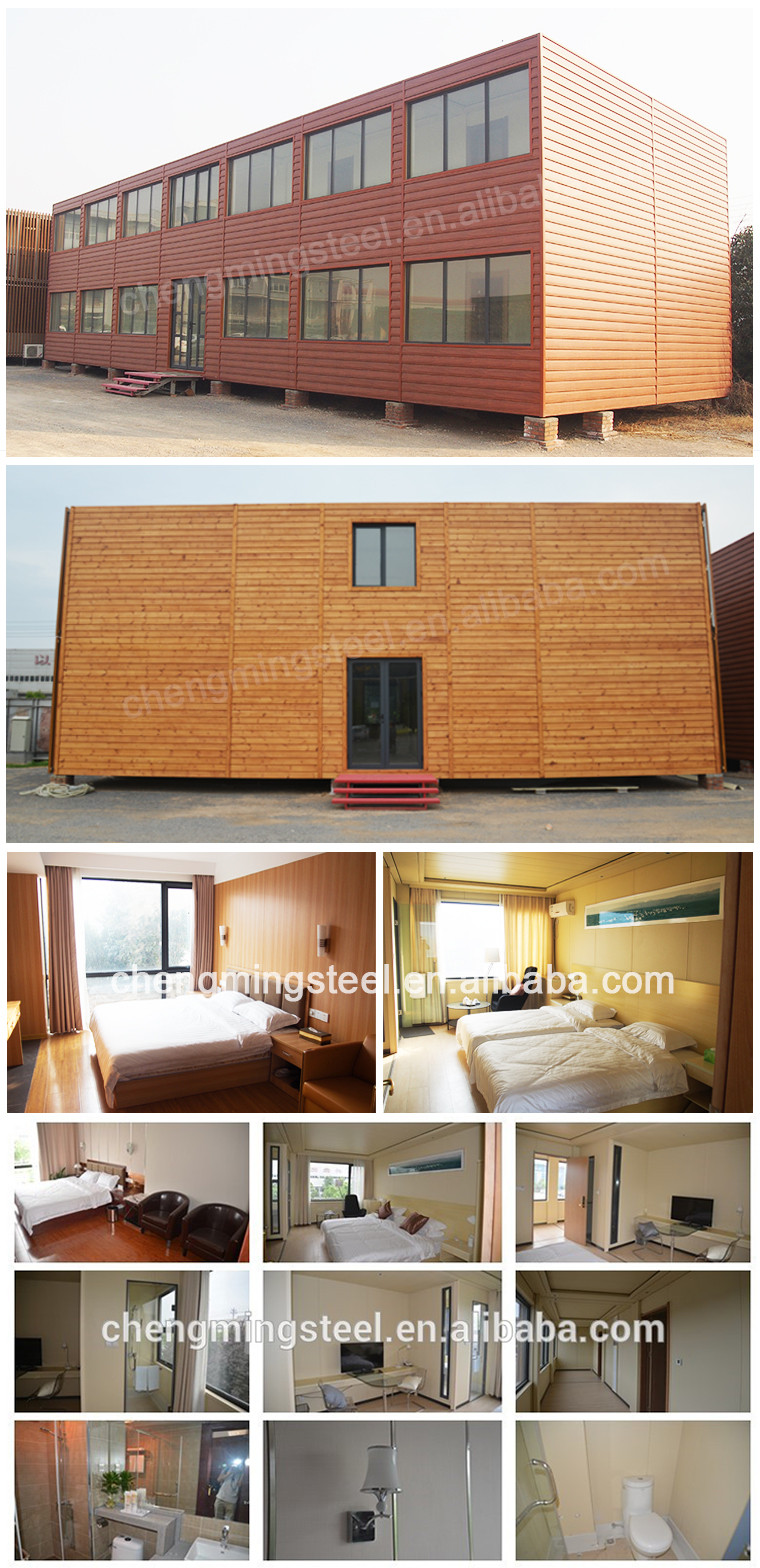 2016 Standard Modular Luxury Prefabricated Steel Frame Houses Villa Homes B