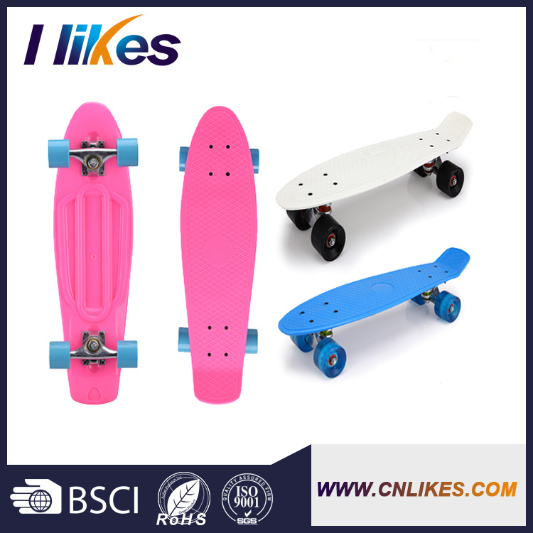 kids handle power longboard wholesale plastic skateboard