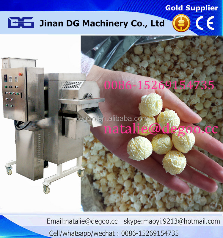 Hot air caramel cheese salty popcorn manufacturing equipment