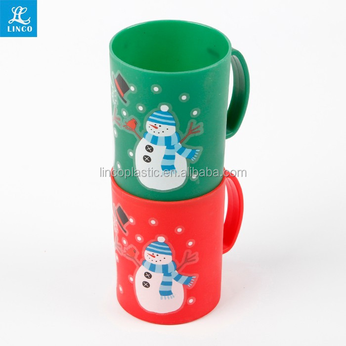 Children 280ml tooth-brushing cup Plastic mug with handle