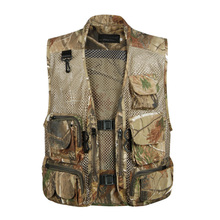 Mens hunting waistcoat multi pocket mesh vest with pockets