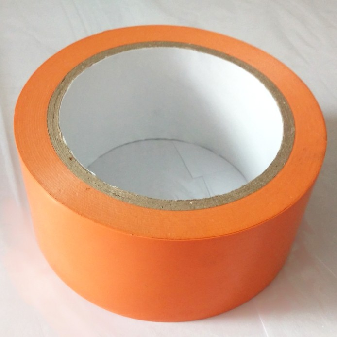 custom printed PVC Orange color protective Tape 170mic