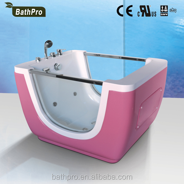 rectangle shape massage acrylic material freestanding baby bath tub