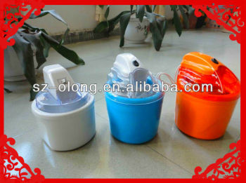 2014 electric plastic ice cream maker Hot!!!