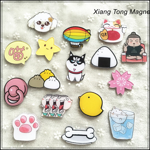 Cartoon Fridge Magnets Type custom funny acrylic fridge magnet