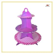 Hot sale cardboard cupcake display wholesale