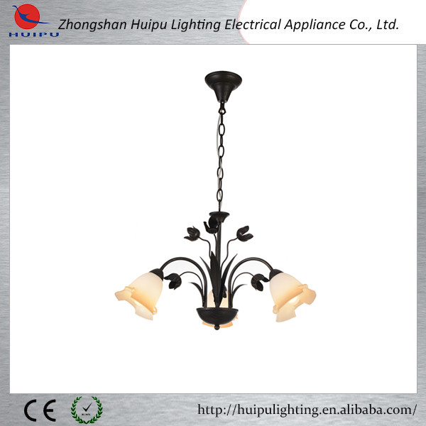 UK hand made flower shade glass chandelier pendant lamp
