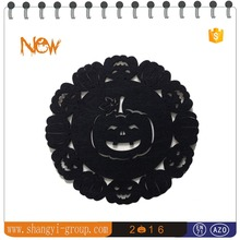 (HW3-03C)Halloween wholesale round cheap fabric placemat dinnerware