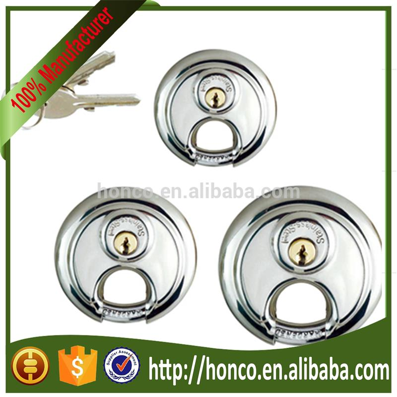 round combination stainless steel disc padlock