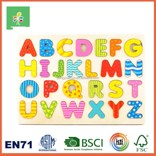 Hotest wooden alphabet puzzle board for kids IQ promotion