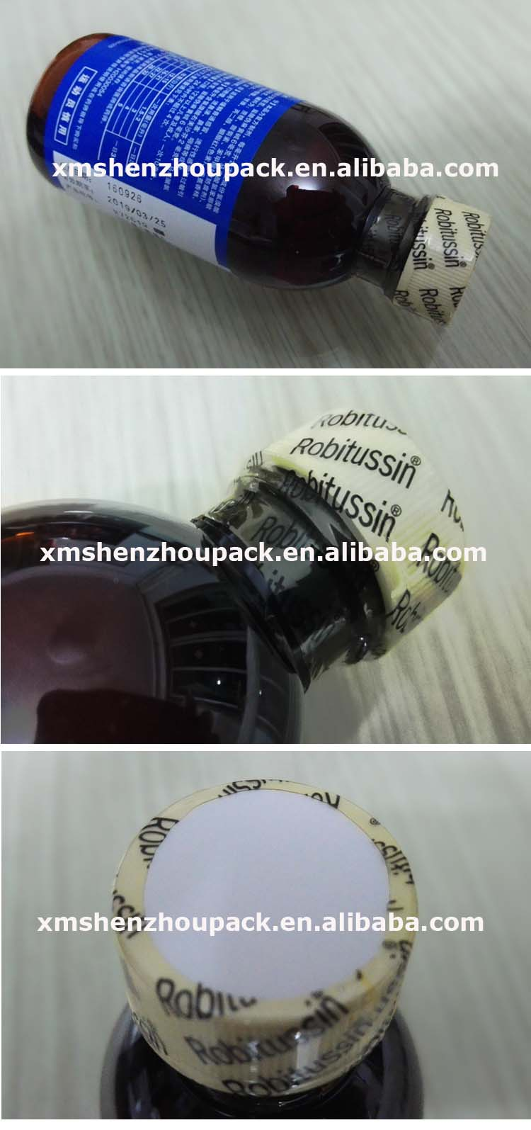 Automatic Bottle Banding Machine with PVC OPEG Shrink Sleeve Band Label Cap Seal Tamper Evident for Plastic Glass Container