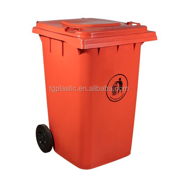 Plastic trash can 360l