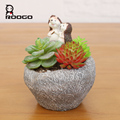 ROOGO resin Hedgehog stone indoor and outdoor pot cheap plant containers for sale