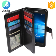 Factory price wallet card holder flip mobile cover leather phone case for alcatel one touch fierce xl