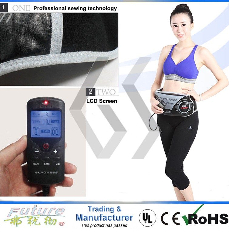 EMS Slimming massage Belt with Heating Vibro shaper EMS MODE for lose fat