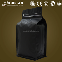 matt black coffee bag/matt white coffee bag/standing up coffee bag
