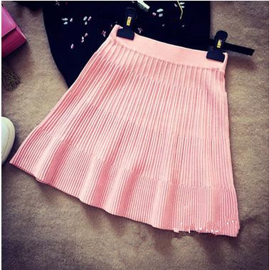 Good quality korean design women winter/autumn short dress ladies pleated skirt
