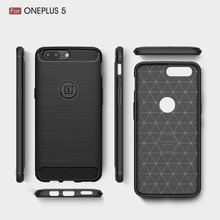 High-end phone case for ONEPLUS 5 Carbon Fiber back cover tpu case for ONEPLUS 5