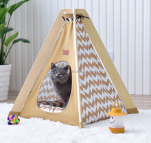 Wholesales Wholesale custom durable cotton canvas pet cat play sleep teepee tent wooden dog house