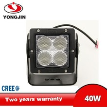 High Power 40W square led work light for truck