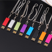 Custom Logo Ultra Mini Metal Swivel Clip USB 2.0 Memory Flash Drive Company Gift