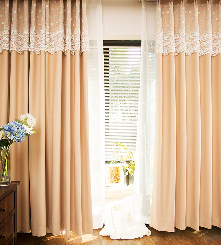 embroidery polyester window curtain fashion elegant lace curtain living room bedroom simple design luxury curtain