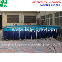 professional design above ground metal frame swimming pools
