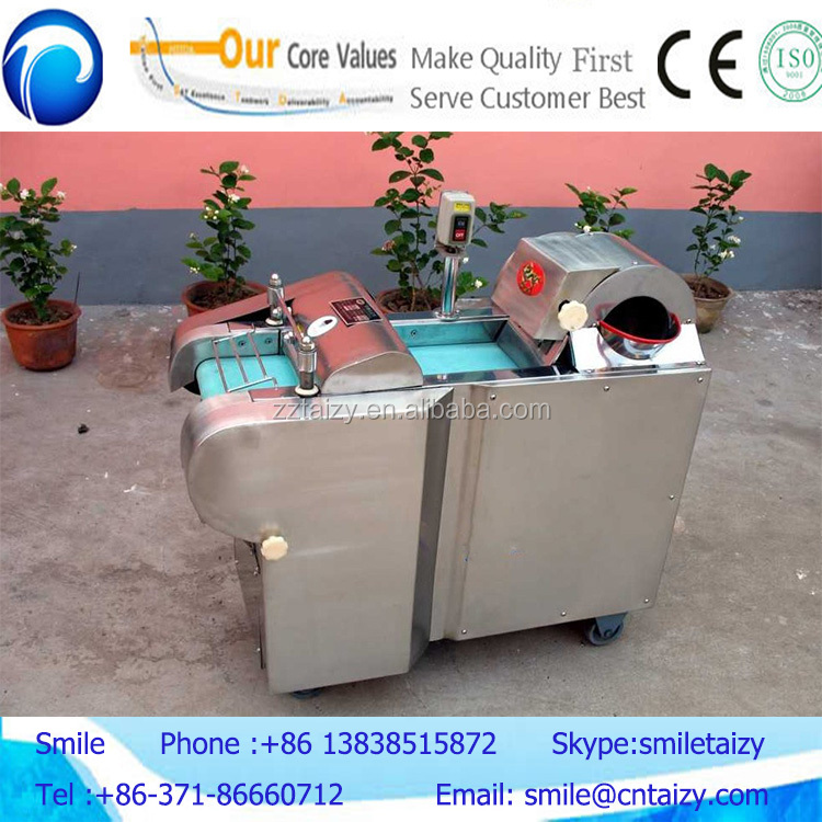 High efficiency vegetable cutting machine for potato/carrot/onion and leafy vegetable