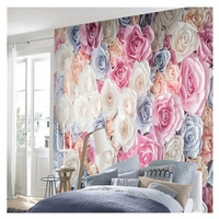 Galaxy Home ECO Solvent print Mural vinyl PVC flower living room Bedroom 3d wallpaper