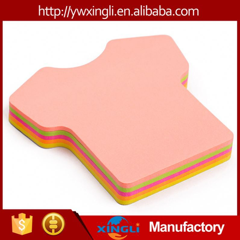 china manufacturer printed custom die cut sticky notes