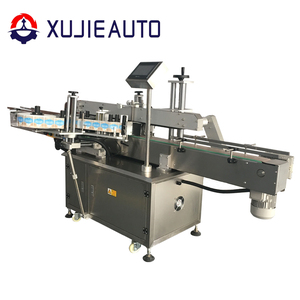 automatic plastic cup two side sticker labeling machine for double side