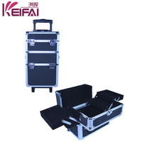 Women Fashion 4 Extend Trays Aluminum Fame Hair Stylist Beauty Case Cosmetic