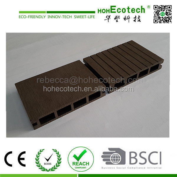 Hot sale!water proof wood plastic composite decking panel passed CE, Germany standard, ISO9001