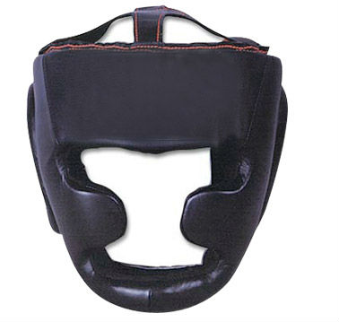 Professional Boxing Head Guards Cowhide leather Steel frame inside cheek protection Custom printing Buyer Logo and accept Paypal