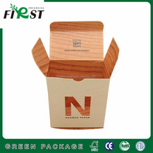 custom logo design small perfume packing white paper box