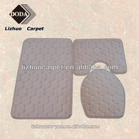 LZ-807 2014 newest 100% polyester anti slip Memory Foam carpets and rugs