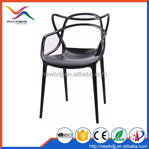 factory supply durable fiberglass colorful balck color whope PP hotel dining <strong>chair</strong> in low price
