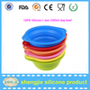 Amazon new product Silicone fashion portable pet bowl dog travel collapsible bowls
