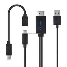 Aibocn 6.5 Feet/2M Universal MHL Micro USB Cable 1080P HDTV Adapter for Samsung Galaxy S5 S4 S3 Note 3 USB cable