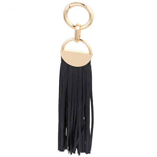 New product for 2016 popular handmade leather tassel key chain