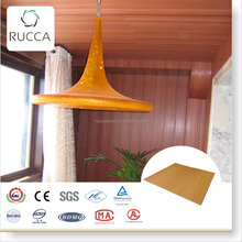Rucca Rucca Wood Plastic Composite Wall Panels, WPC Interior Wall Material, home-decoration 300*3mm wall paneling produk