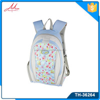 600D/PVC Fabric printing flowers pattern fashionable backpack bags for mac book ,Iphone,ipad