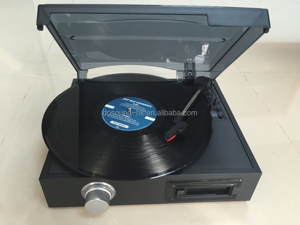 Fashion Vinyl Records with turntable belt, LP PLAY