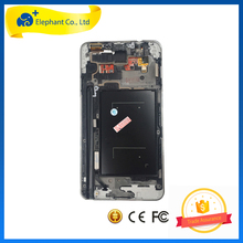 "5.7"" Black White LCD For Samsung Galaxy Note 3 N9005 LCD Display Touch Screen Digitizer with Bezel Frame Assembly"