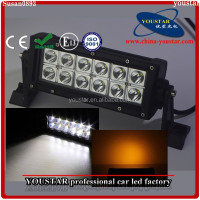 Yellow and White Dual Color 36w Led Light Bar Strobe Flash, ATV LED Lights