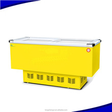Supermarket Commercial Frozen Food Display Island Freezer