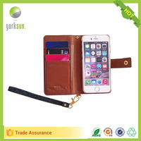 Hot selling design wholesale custom flip mobile phone leather case for iphone