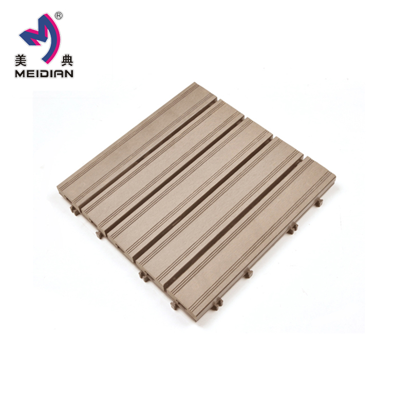 Easy installation DIY WPC decking tile made of fine wood and plastic materials